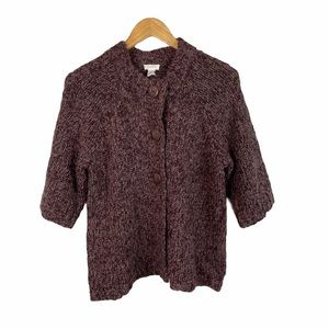 Chico's purple and silver cardigan sweater